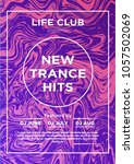 party poster for night club.... | Shutterstock .eps vector #1057502069