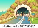 vector cartoon illustration of... | Shutterstock .eps vector #1057506467