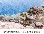 the blue hole in dahab  egypt.... | Shutterstock . vector #1057511411