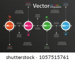 vector circle infographic on... | Shutterstock .eps vector #1057515761