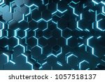 abstract blue of futuristic...   Shutterstock . vector #1057518137