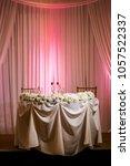 classy wedding setting.table...   Shutterstock . vector #1057522337