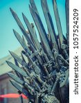 knight  royal throne made of... | Shutterstock . vector #1057524209