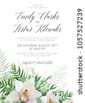 wedding invitation  invite ... | Shutterstock .eps vector #1057527239