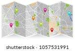 map city montpellier | Shutterstock .eps vector #1057531991