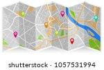 design art map city   Shutterstock .eps vector #1057531994