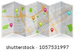 map city birmingham   Shutterstock .eps vector #1057531997