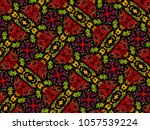 a hand drawing pattern made of... | Shutterstock . vector #1057539224