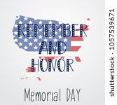 remember and honor. memorial... | Shutterstock .eps vector #1057539671