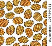 seamless of corrugated potato... | Shutterstock .eps vector #1057544351
