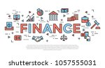 accounting  banking finance... | Shutterstock .eps vector #1057555031