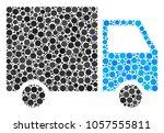 shipment van composition of... | Shutterstock .eps vector #1057555811