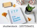 ftp   file transfer protocol... | Shutterstock . vector #1057556651