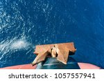 ship's anchor with copy space...   Shutterstock . vector #1057557941