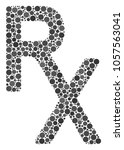 rx medical symbol collage of... | Shutterstock .eps vector #1057563041