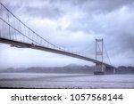 severn road bridge | Shutterstock . vector #1057568144