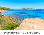 beautiful sea coast near santa... | Shutterstock . vector #1057573847