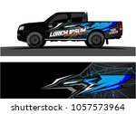 truck graphic kit. abstract ... | Shutterstock .eps vector #1057573964
