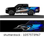 truck graphic kit. abstract ... | Shutterstock .eps vector #1057573967