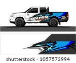 truck graphic kit. abstract ... | Shutterstock .eps vector #1057573994