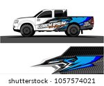 truck graphic kit. abstract ... | Shutterstock .eps vector #1057574021