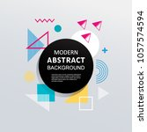 abstract modern colorful... | Shutterstock .eps vector #1057574594