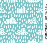 seamless pattern with funny... | Shutterstock .eps vector #1057576517