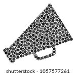 megaphone composition of round...   Shutterstock .eps vector #1057577261