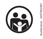family icon. parents and kid.... | Shutterstock .eps vector #1057581587
