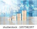 coin stacks   business money... | Shutterstock . vector #1057582397