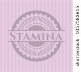 stamina badge with pink... | Shutterstock .eps vector #1057583615