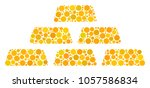 treasure bricks composition of... | Shutterstock . vector #1057586834