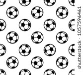 seamless pattern with football... | Shutterstock .eps vector #1057596461