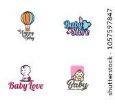 baby logo vector | Shutterstock .eps vector #1057597847