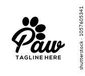 Stock vector paw logo vector art 1057605341