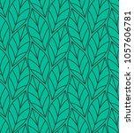 geometric seamless leaf vector... | Shutterstock .eps vector #1057606781