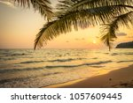 beautiful paradise island with... | Shutterstock . vector #1057609445