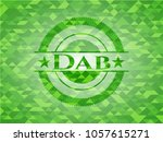 dab green emblem with triangle... | Shutterstock .eps vector #1057615271