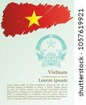 flag of vietnam  socialist... | Shutterstock .eps vector #1057619921