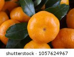 mandarin oranges background | Shutterstock . vector #1057624967