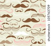 art deco mustache seamless...   Shutterstock .eps vector #105763709