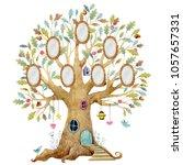 watercolor children's tree... | Shutterstock . vector #1057657331