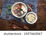 close up of fast food  black... | Shutterstock . vector #1057663067