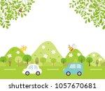 landscape driving the fresh... | Shutterstock .eps vector #1057670681