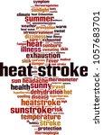 heat stroke word cloud concept. ... | Shutterstock .eps vector #1057683701