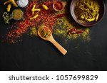 exotically spice mix   spice ... | Shutterstock . vector #1057699829