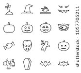 flat vector icon set   grave... | Shutterstock .eps vector #1057705211