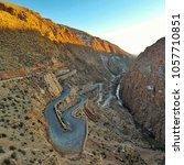road through dades gorge in... | Shutterstock . vector #1057710851