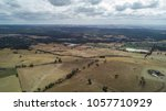 aerial view of farmland... | Shutterstock . vector #1057710929