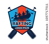 rafting logo with text space... | Shutterstock .eps vector #1057717511